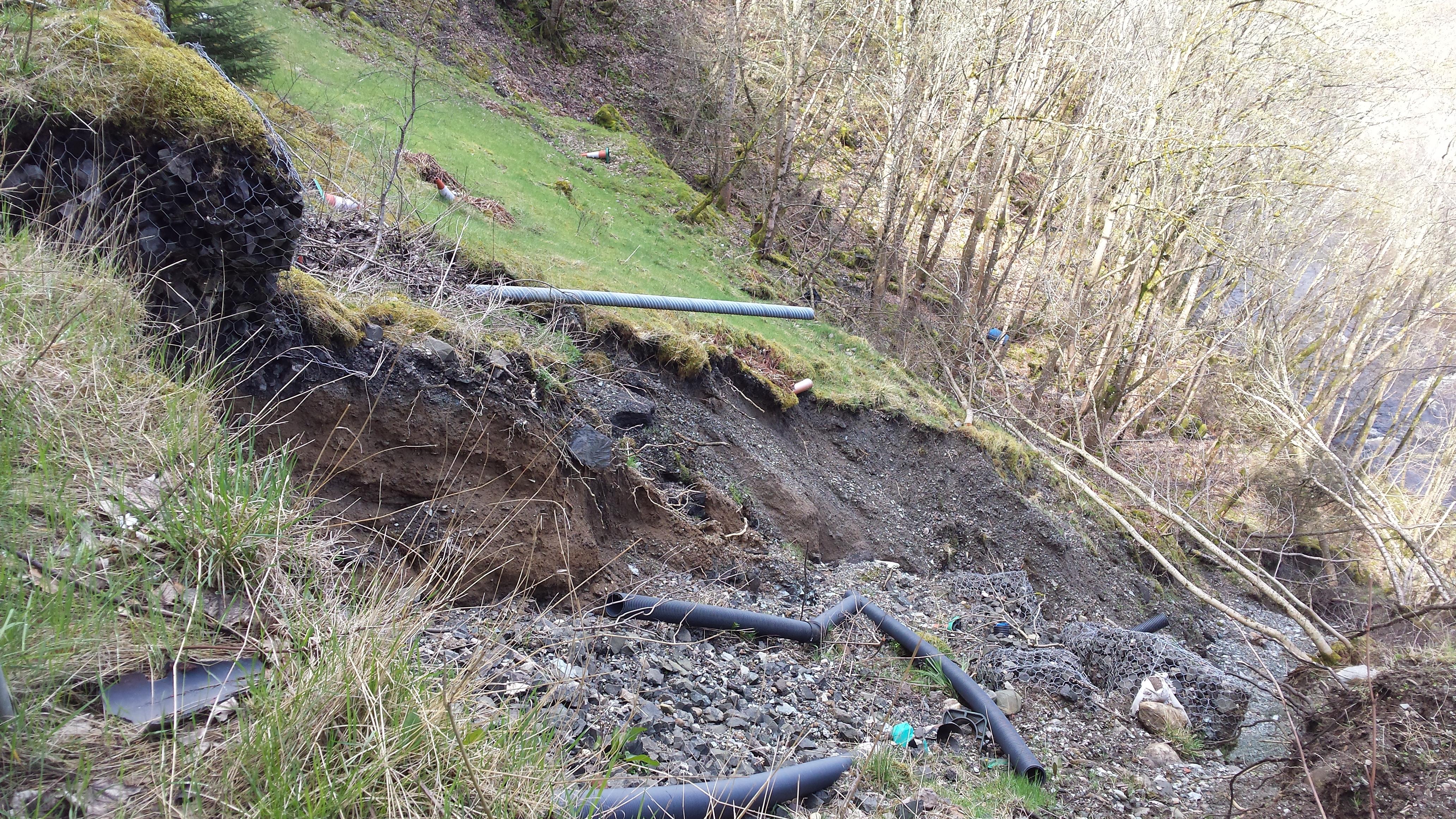 A93 Rochallie land slip